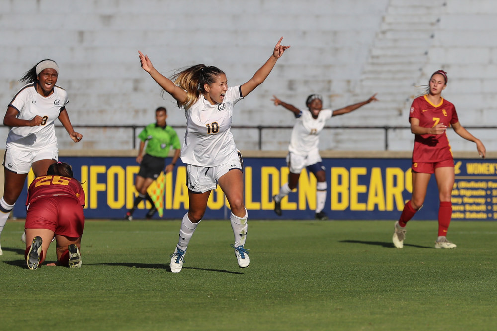 October 18, 2019; Edwards Stadium, Berkeley, California, USA; Women's Soccer: California Golden Bears vs. USC Trojans.  Luca Deza (10);  Photo credit: Al Sermeno- KLC fotos